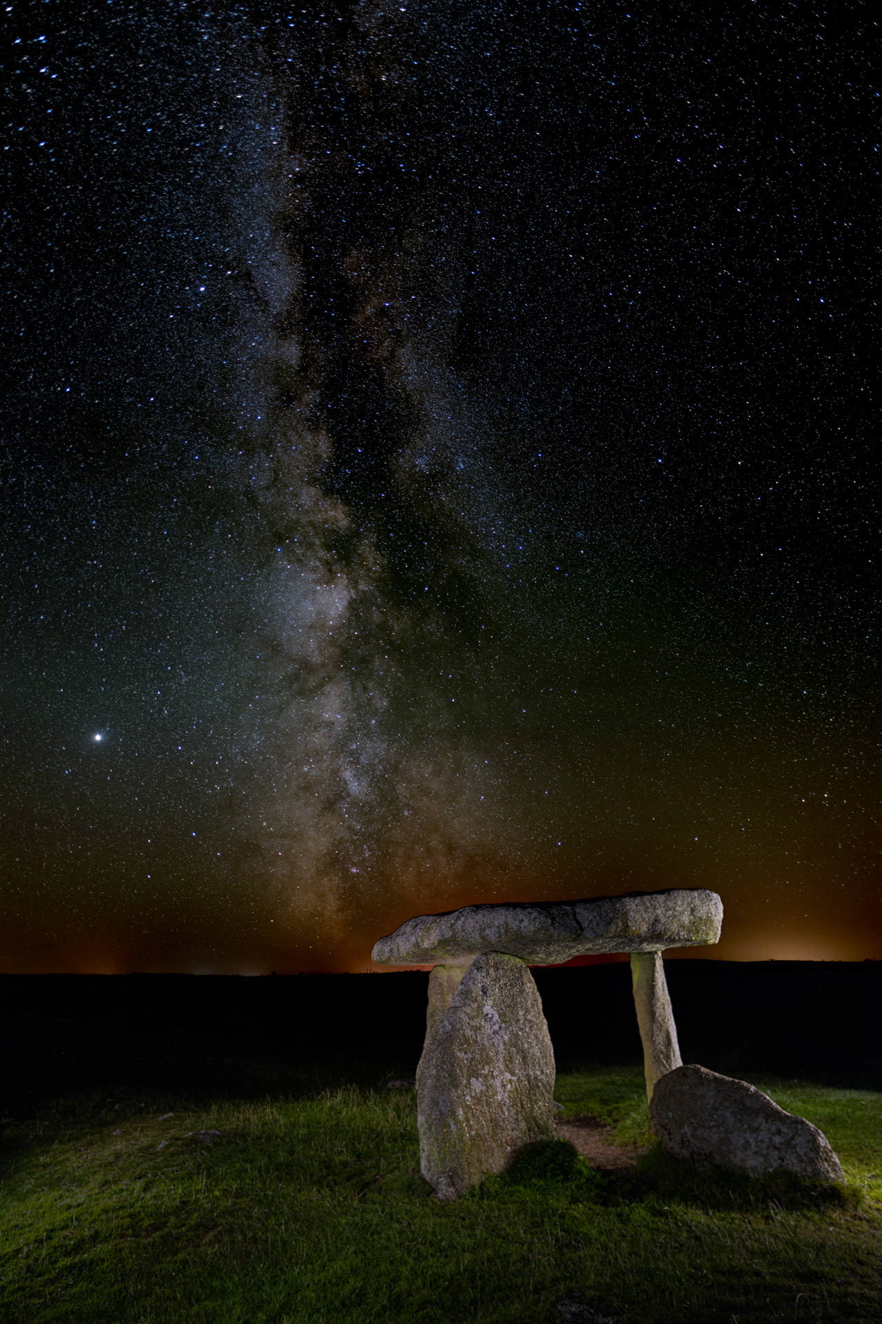Lanyon Quoit with the Milky Way by Chris Colyer